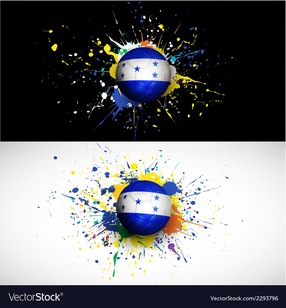 Honduras flag with soccer ball dash on colorful vector | Price: 1 Credit (USD $1)