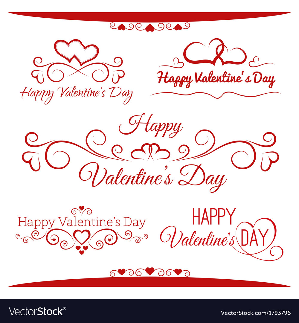 Inscriptions for valentines day vector | Price: 1 Credit (USD $1)