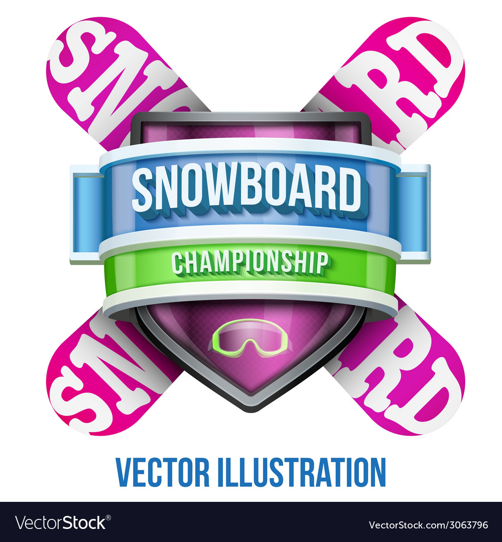 Label for snowboard and winter sport competition vector | Price: 3 Credit (USD $3)