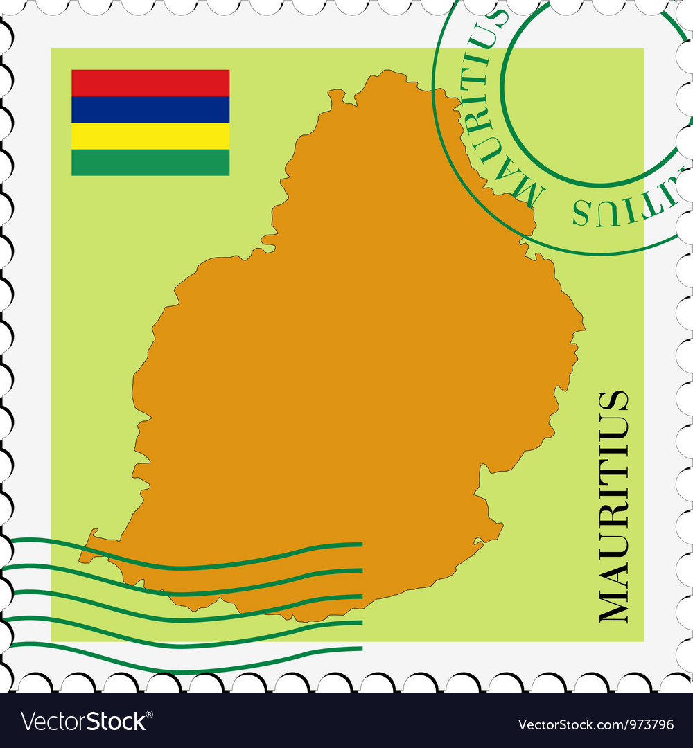 Mail to-from mauritius vector | Price: 1 Credit (USD $1)