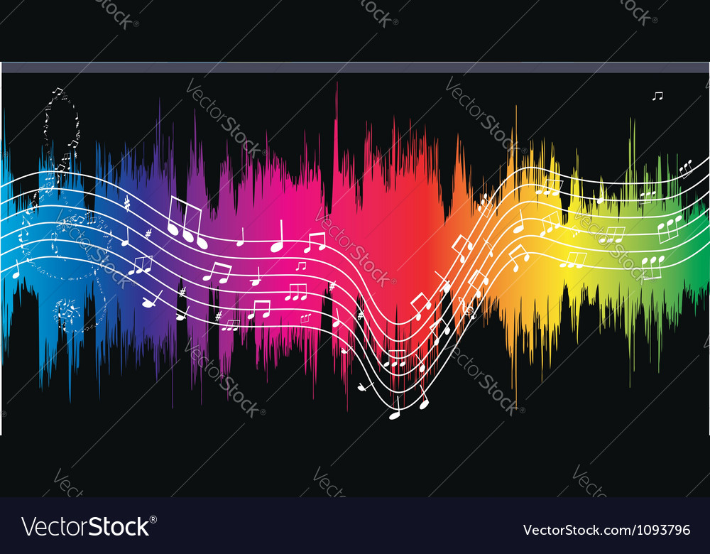 Old city and musical notes vector | Price: 1 Credit (USD $1)