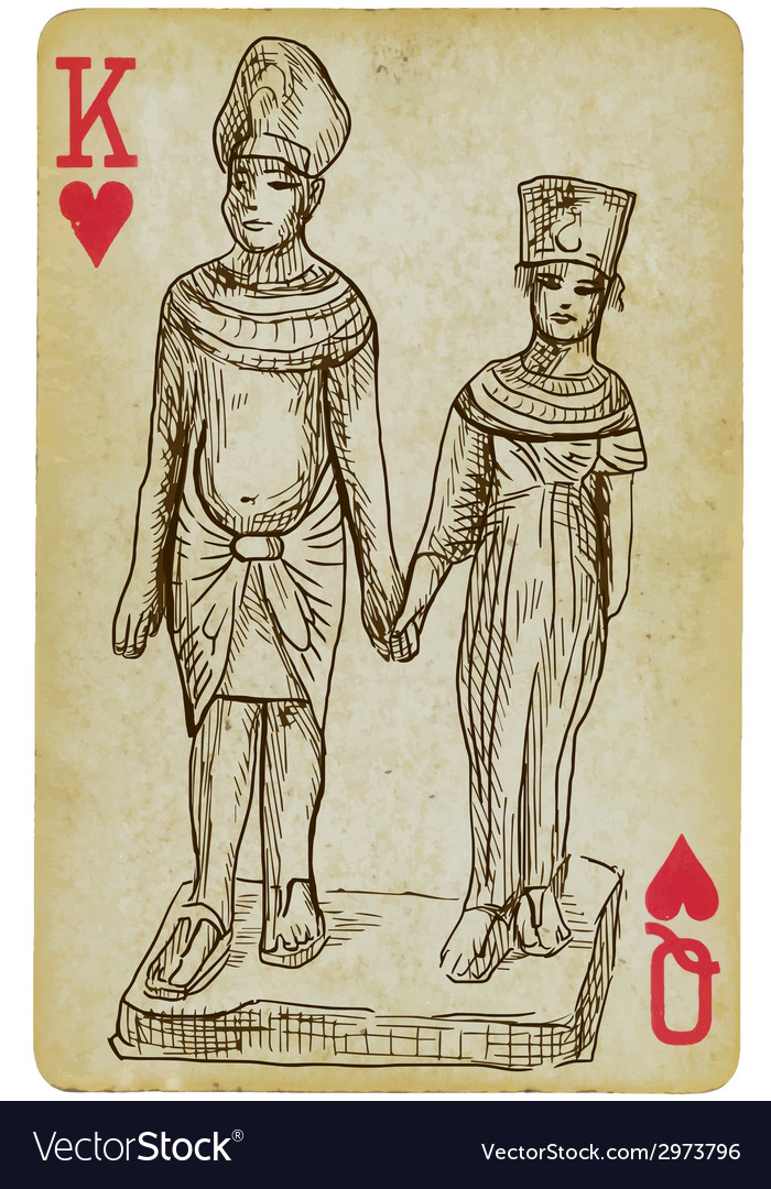 Pharaoh and queen vector | Price: 1 Credit (USD $1)
