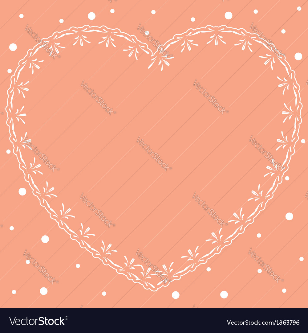 Pink romantic card with ornamental heart vector | Price: 1 Credit (USD $1)