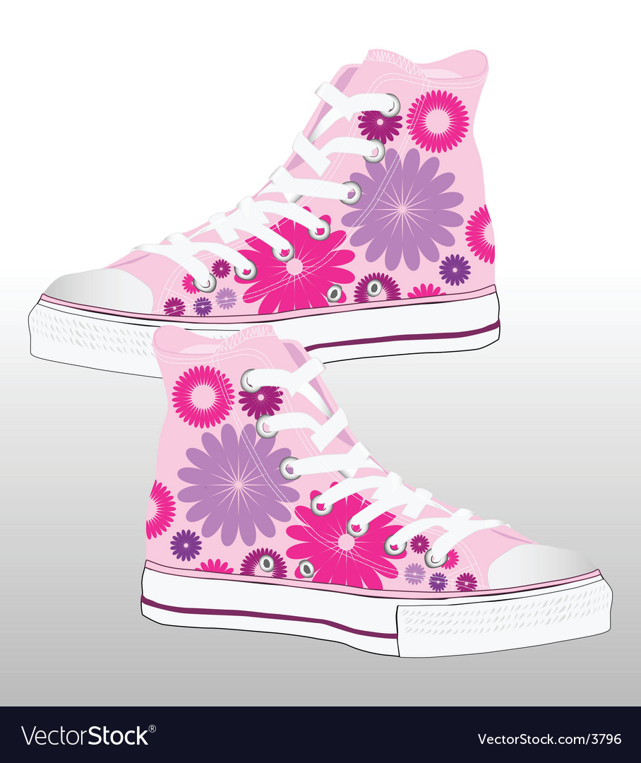 Retro sneaker shoe design vector | Price: 3 Credit (USD $3)