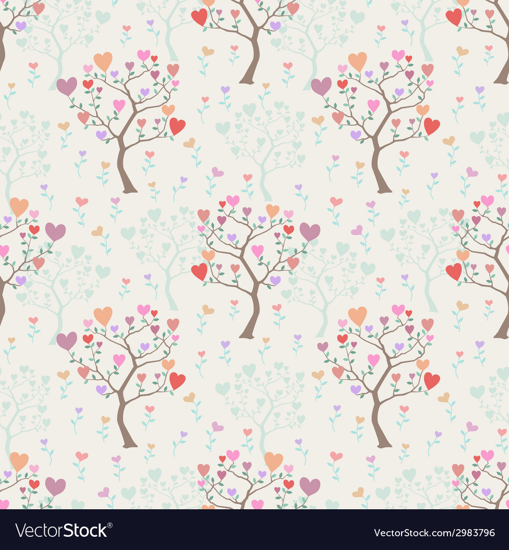 Seamless background with trees and multicolored vector | Price: 1 Credit (USD $1)