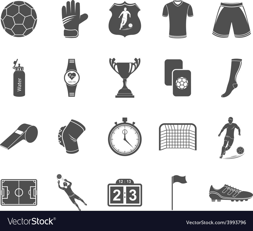 Set of icons football vector | Price: 1 Credit (USD $1)