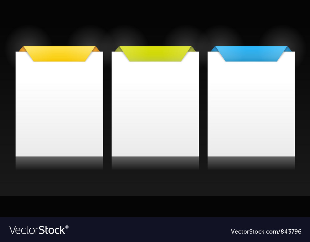 Set of vertical cards vector