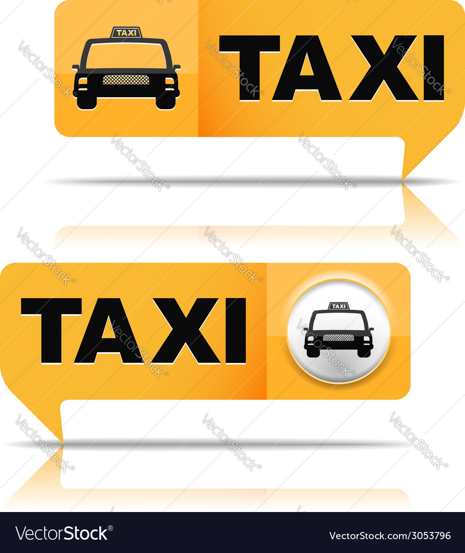 Taxi banners vector | Price: 1 Credit (USD $1)