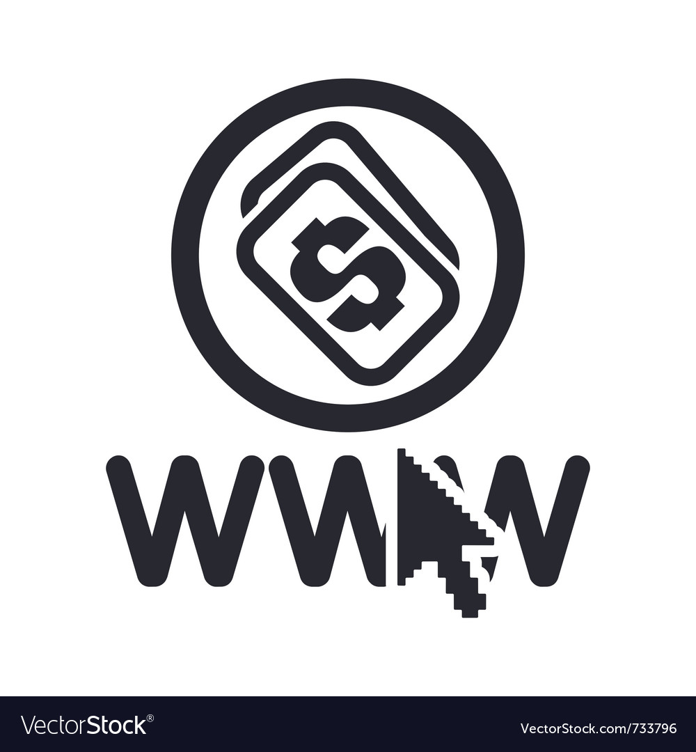 Web money icon vector | Price: 1 Credit (USD $1)