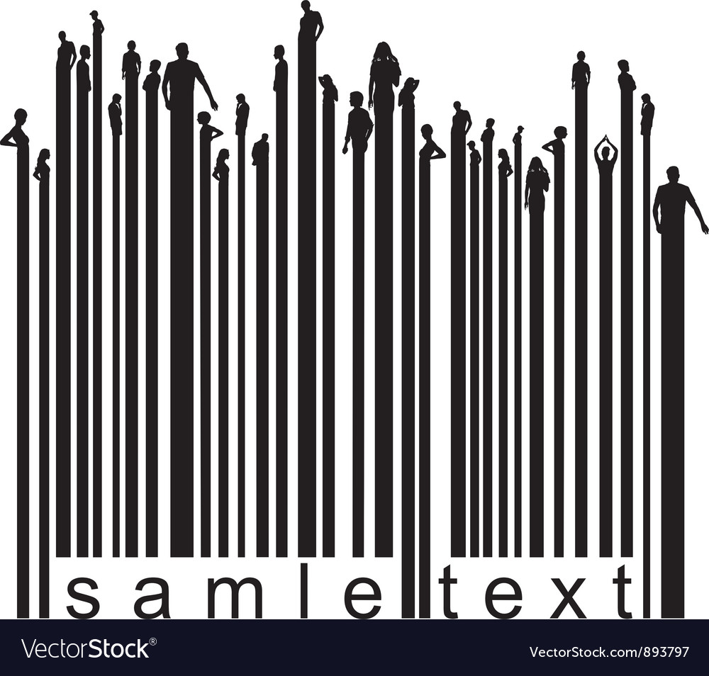 Bar code people vector | Price: 1 Credit (USD $1)