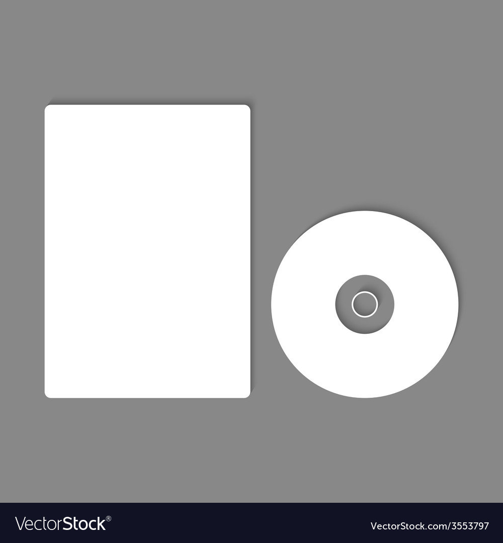 Blank cd dvd mock up vector | Price: 1 Credit (USD $1)