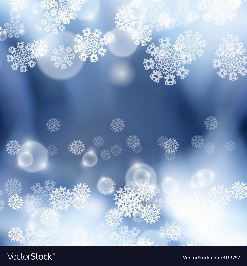 Blue background with snowflakes vector | Price: 1 Credit (USD $1)