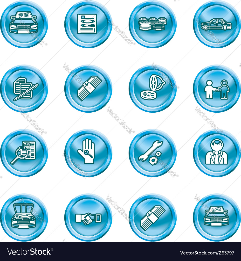 Car dealer icons vector | Price: 1 Credit (USD $1)
