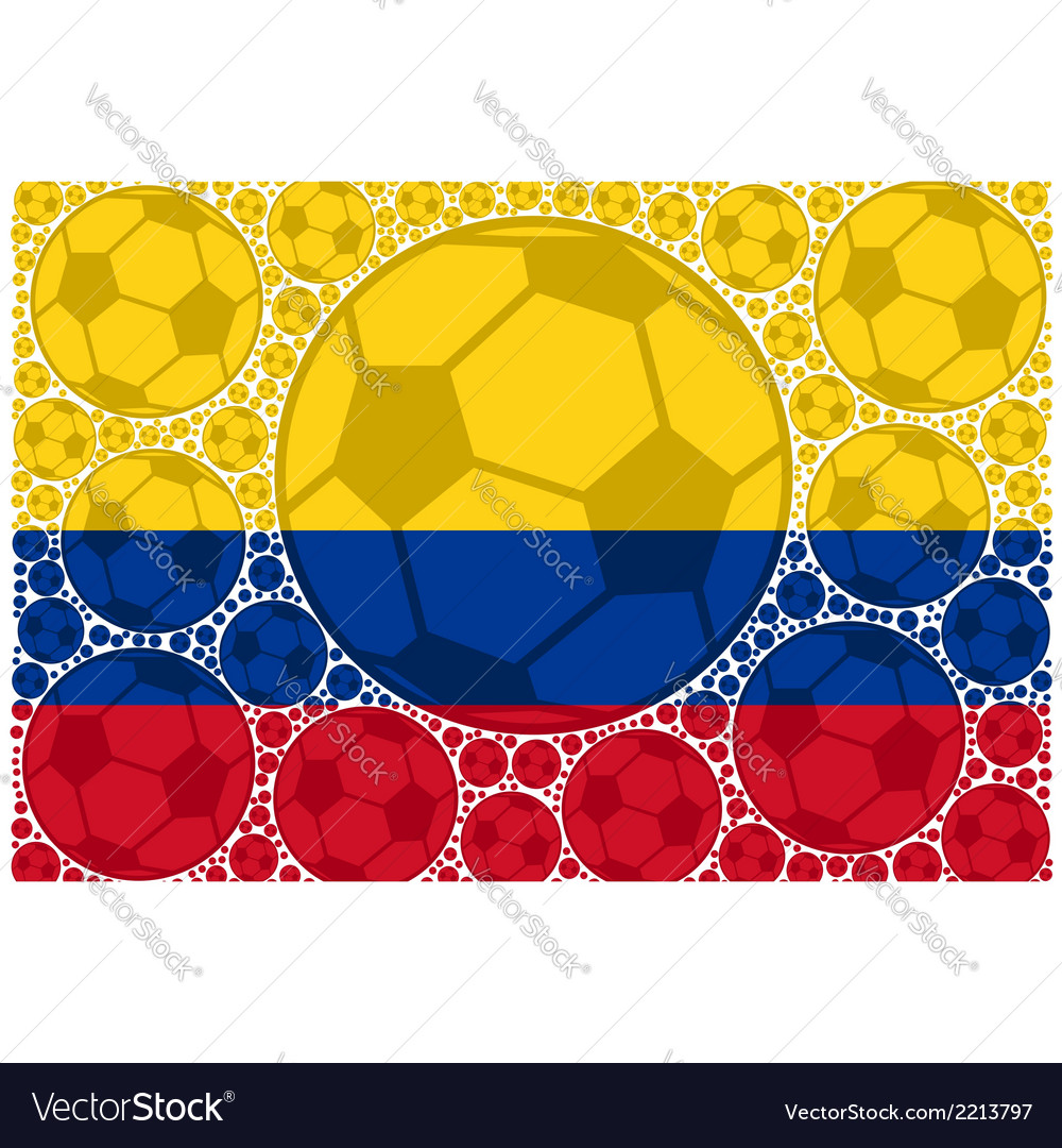 Colombia soccer balls vector | Price: 1 Credit (USD $1)