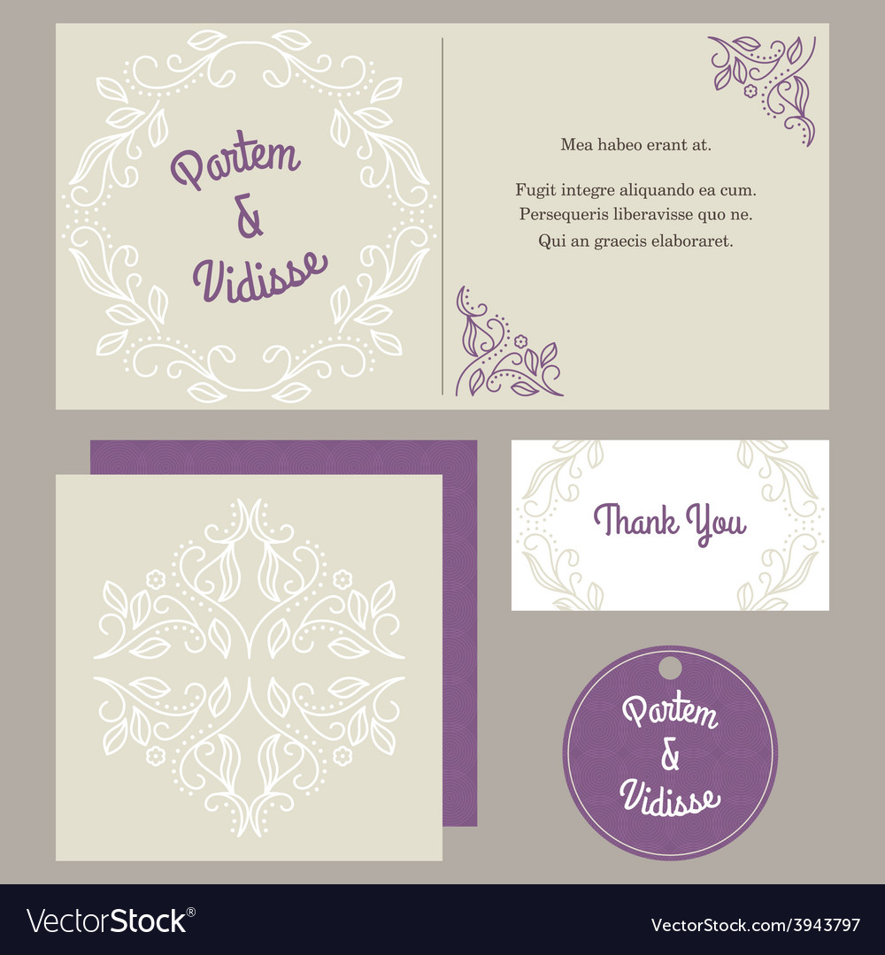 Design template of wedding invitation with vector | Price: 1 Credit (USD $1)