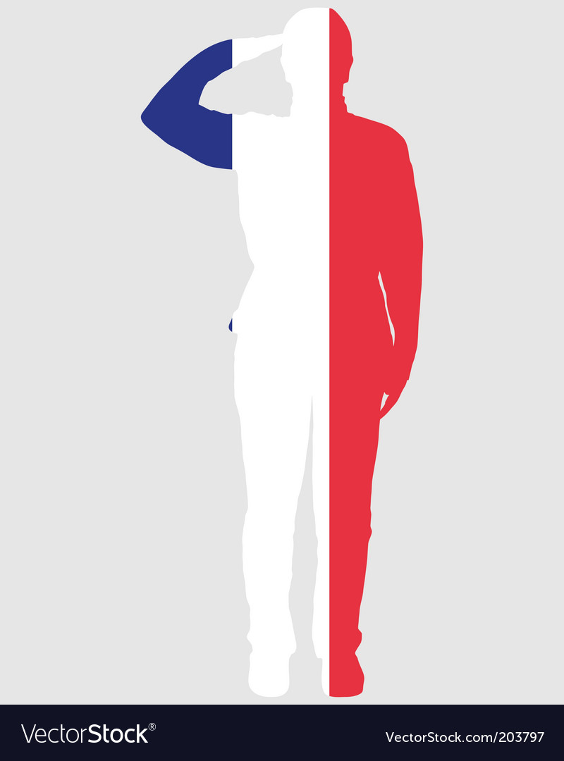 French salute vector | Price: 1 Credit (USD $1)