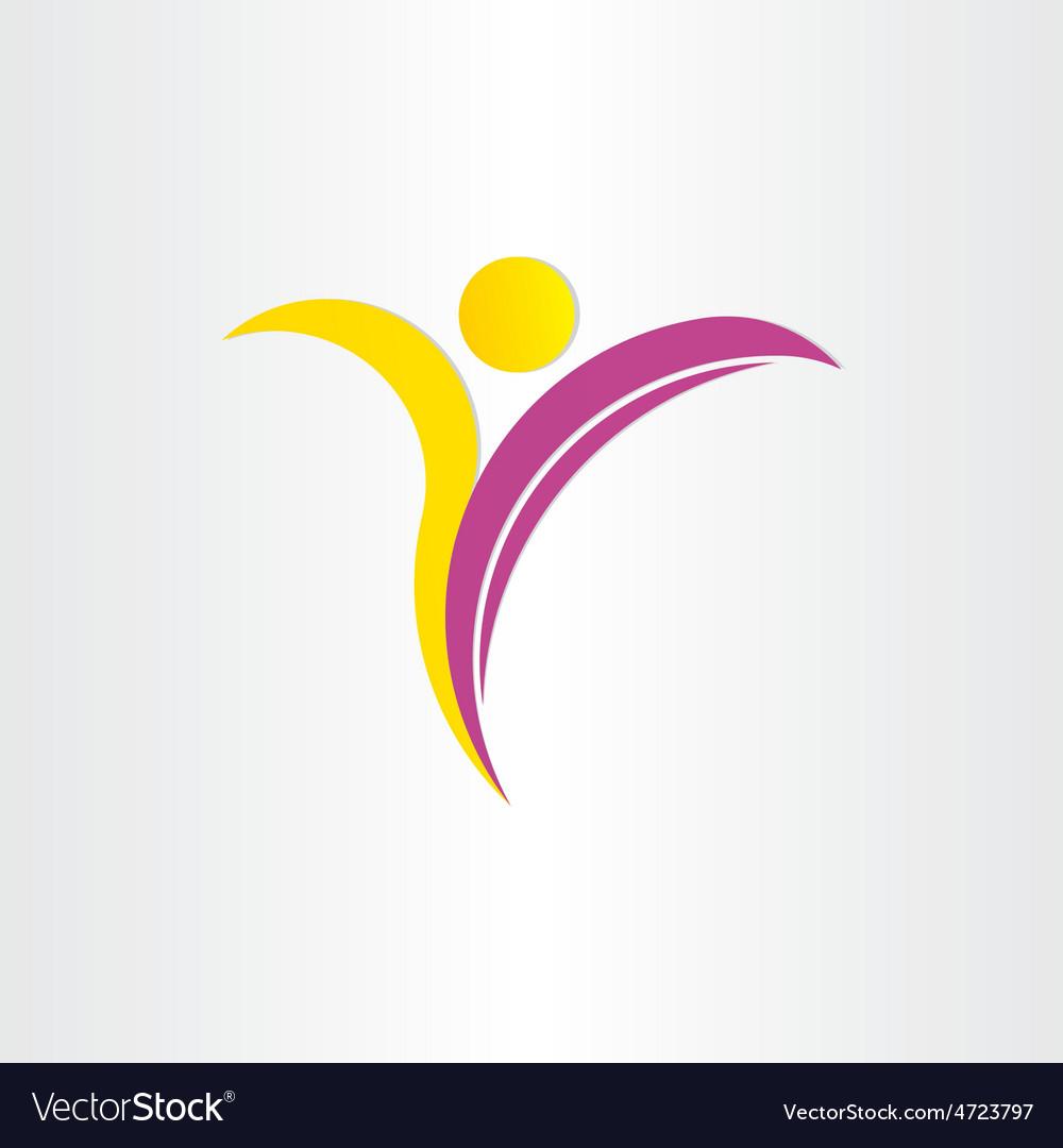 Letter y healthy man yoga symbol vector | Price: 1 Credit (USD $1)