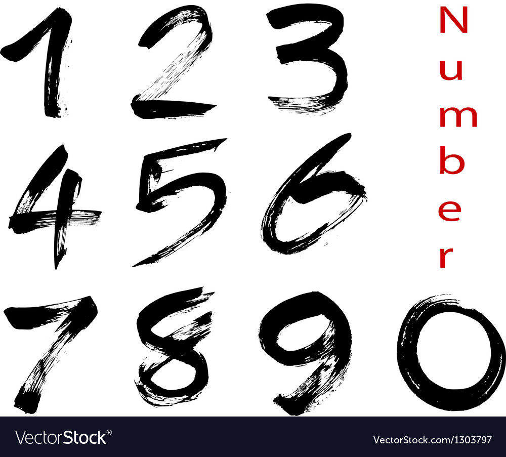 Number vector | Price: 1 Credit (USD $1)