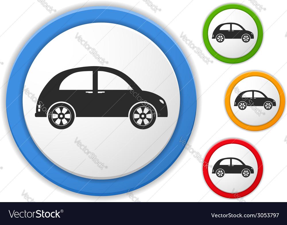 Retro car icon vector | Price: 1 Credit (USD $1)