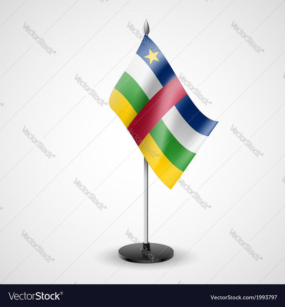Table flag of central african republic vector | Price: 1 Credit (USD $1)