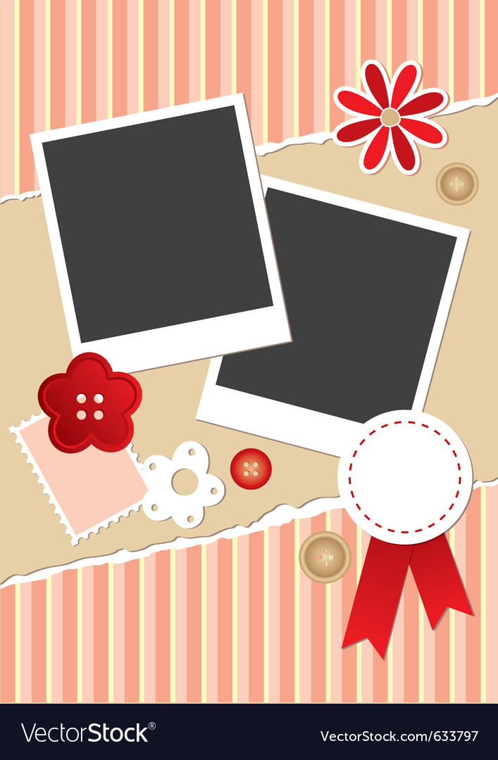 Vintage frame for photos vector | Price: 1 Credit (USD $1)