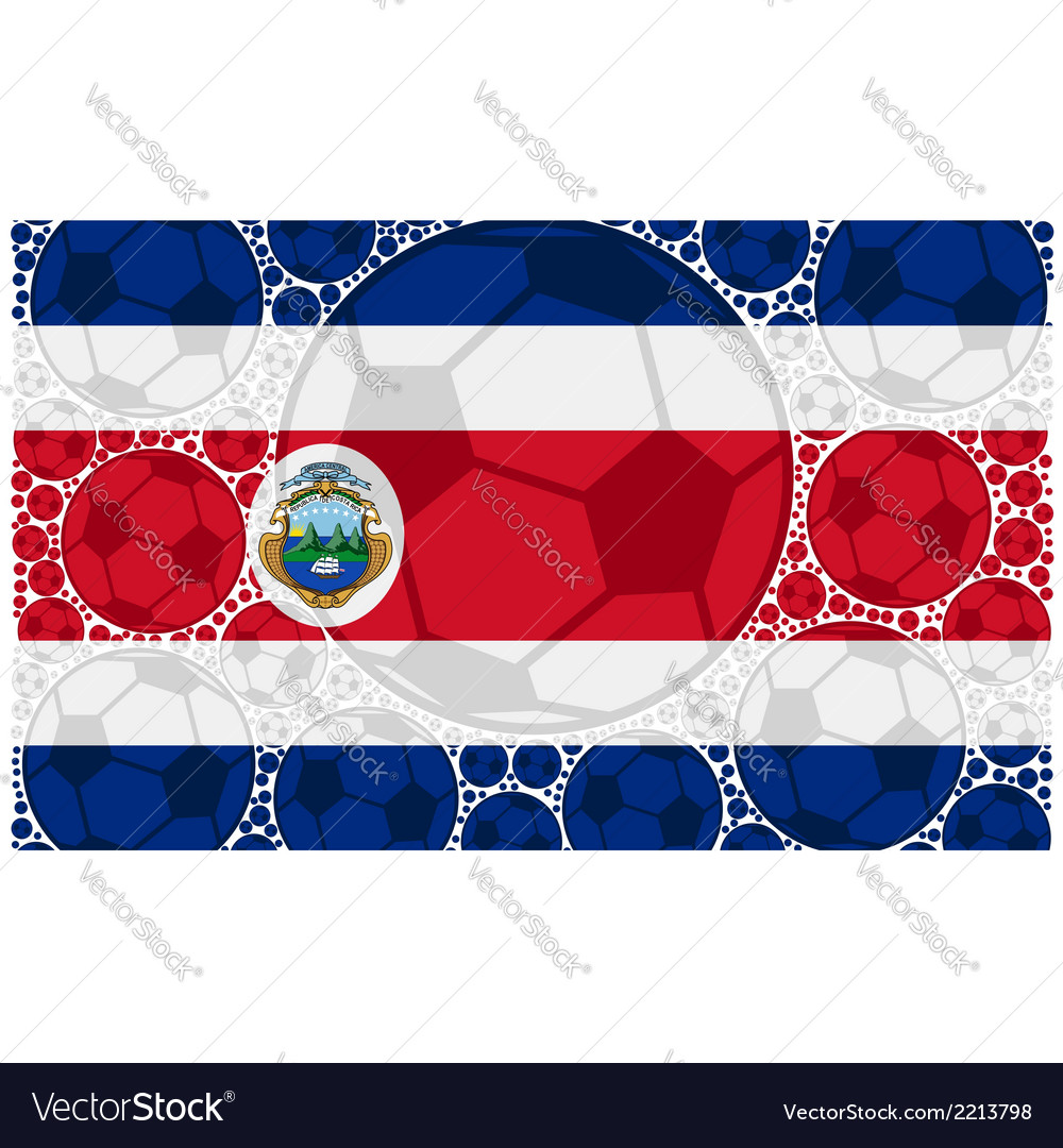 Costa rica balls vector | Price: 1 Credit (USD $1)