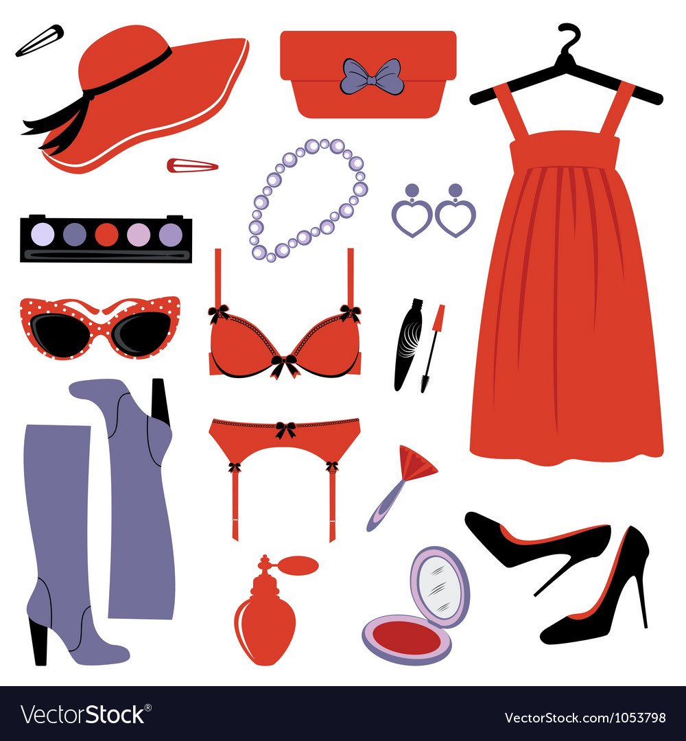 Fashion set elegance vector | Price: 1 Credit (USD $1)