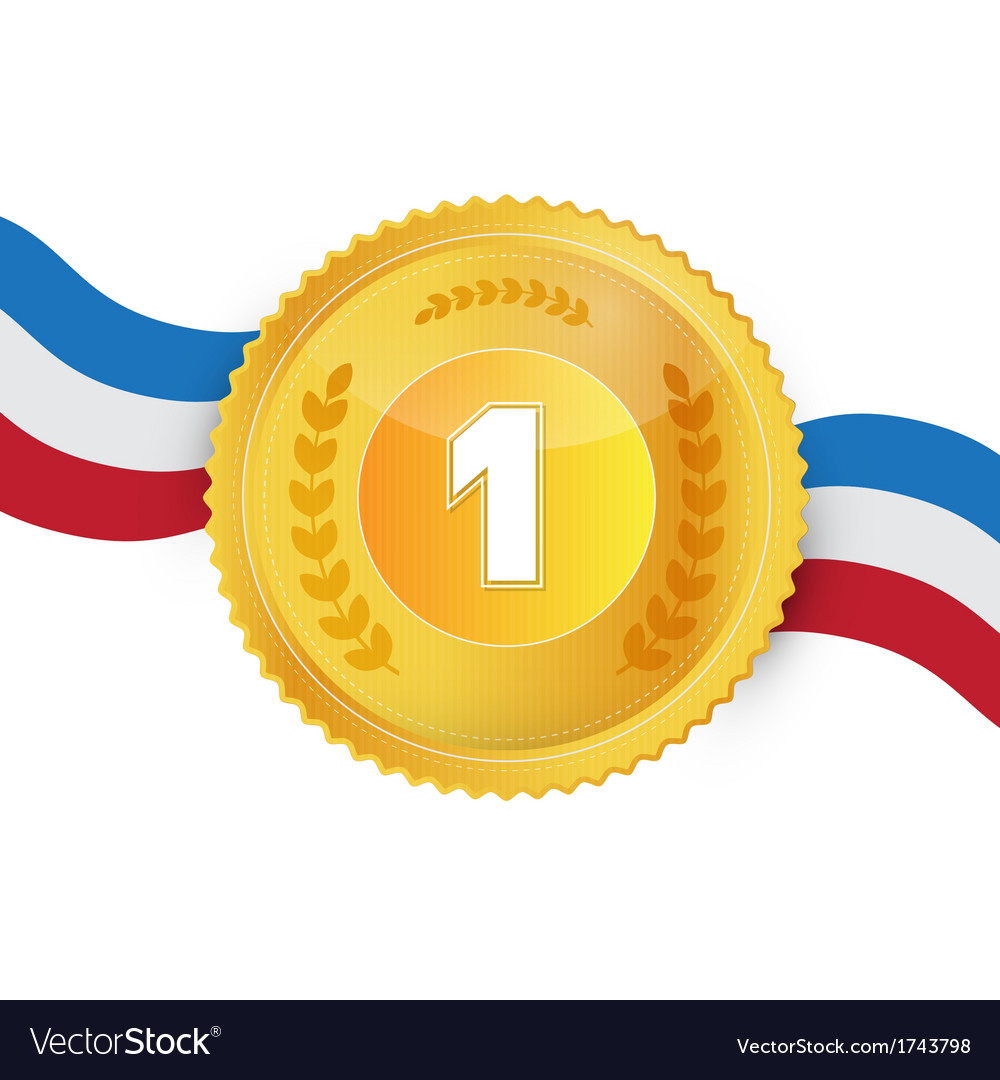 Gold medal award isolated on white background vector   Price: 1 Credit (USD $1)