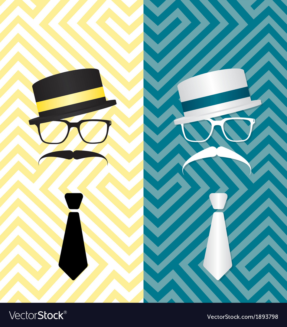 Hipster black and white vector | Price: 1 Credit (USD $1)