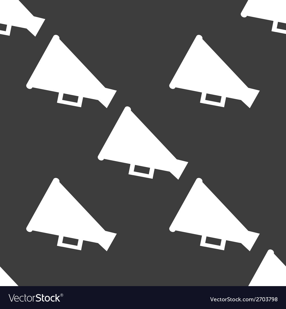 Megaphone loud-hailer web icon flat design vector | Price: 1 Credit (USD $1)