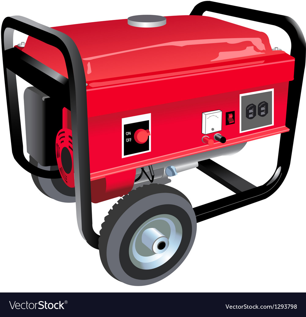 Portable generator vector | Price: 3 Credit (USD $3)