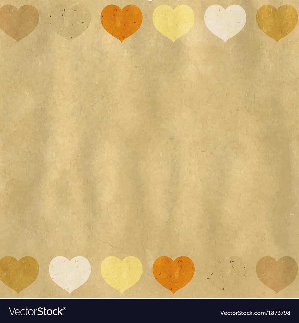 Retro heart background vector | Price: 1 Credit (USD $1)