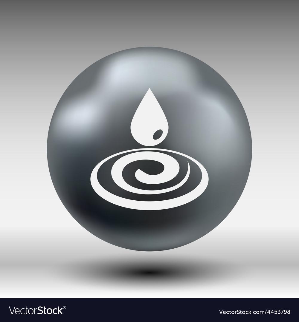 Water drop rain droplet icon fluid clean design vector | Price: 1 Credit (USD $1)