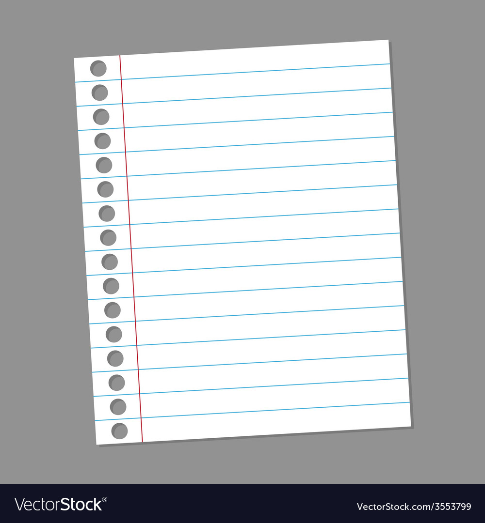Blank paper note for records vector | Price: 1 Credit (USD $1)