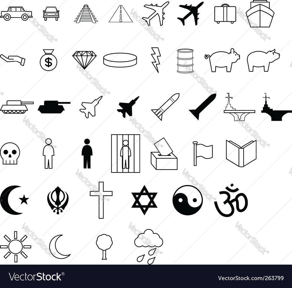 Demographic symbols vector | Price: 1 Credit (USD $1)