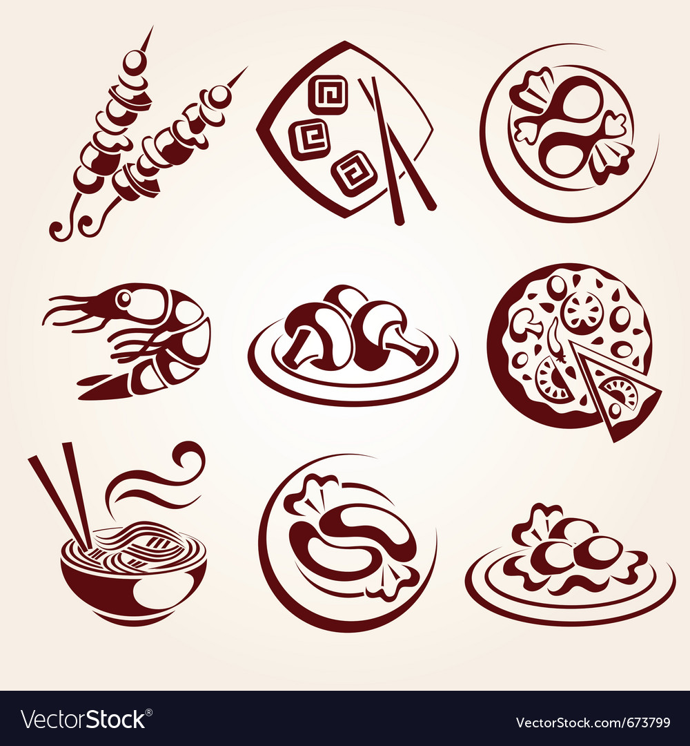 Food elements set vector | Price: 1 Credit (USD $1)
