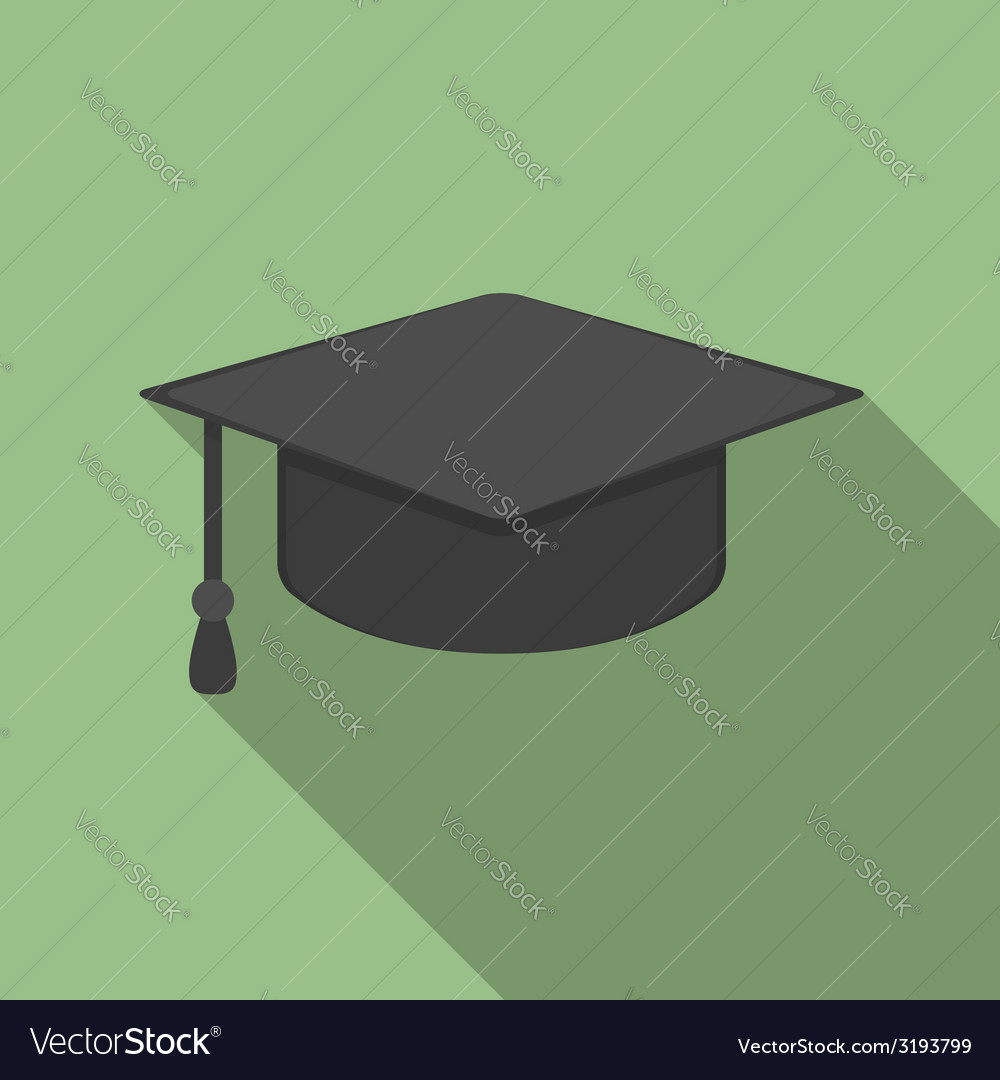 Graduation cap icon vector | Price: 1 Credit (USD $1)