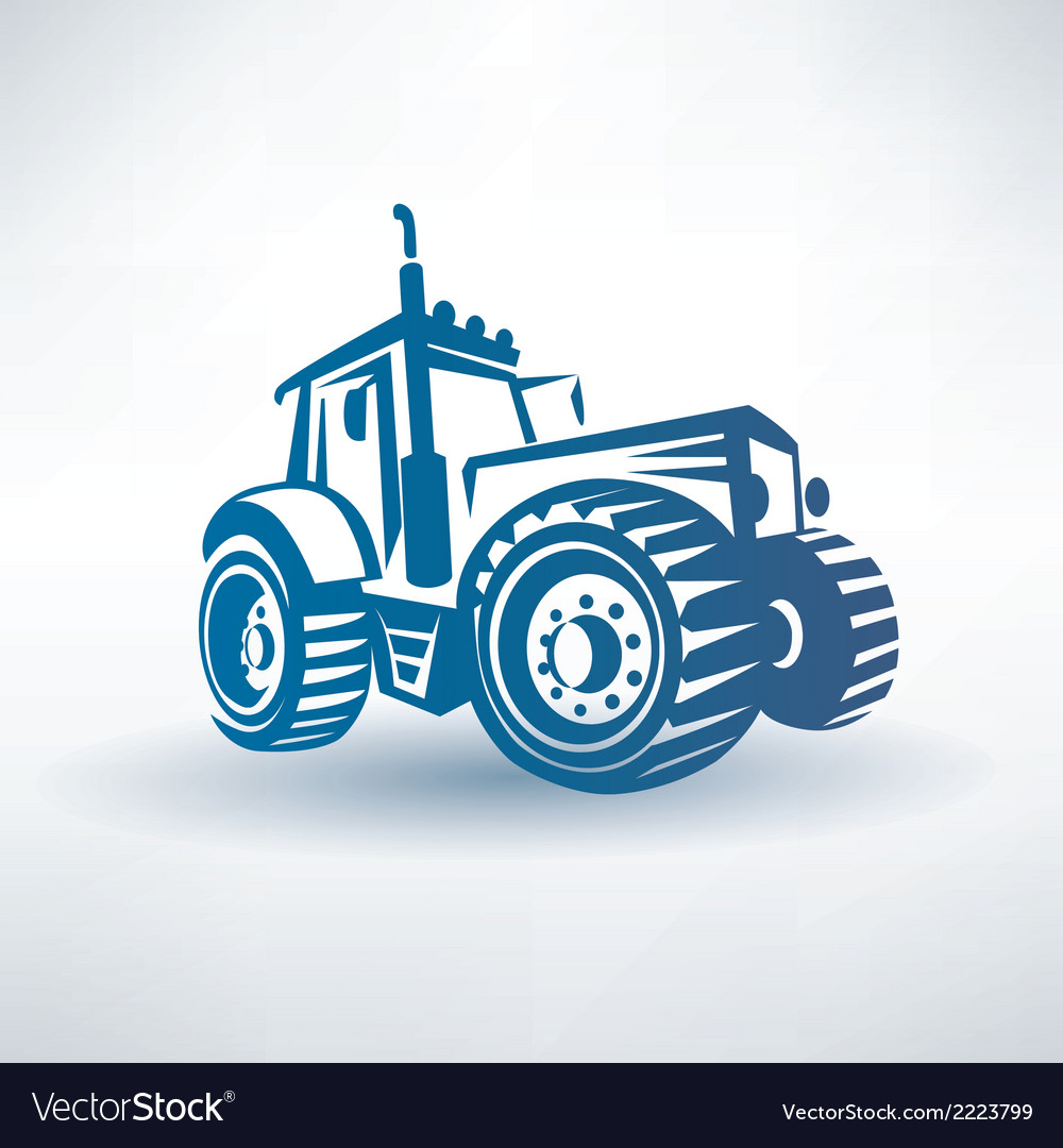 Modern tractor symbol vector | Price: 1 Credit (USD $1)