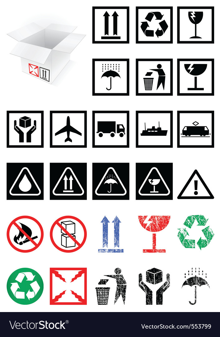 Packing symbols vector | Price: 1 Credit (USD $1)