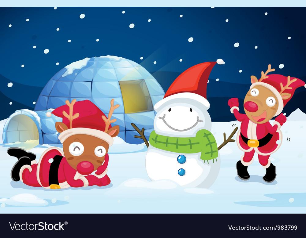 Reindeer party vector | Price: 3 Credit (USD $3)