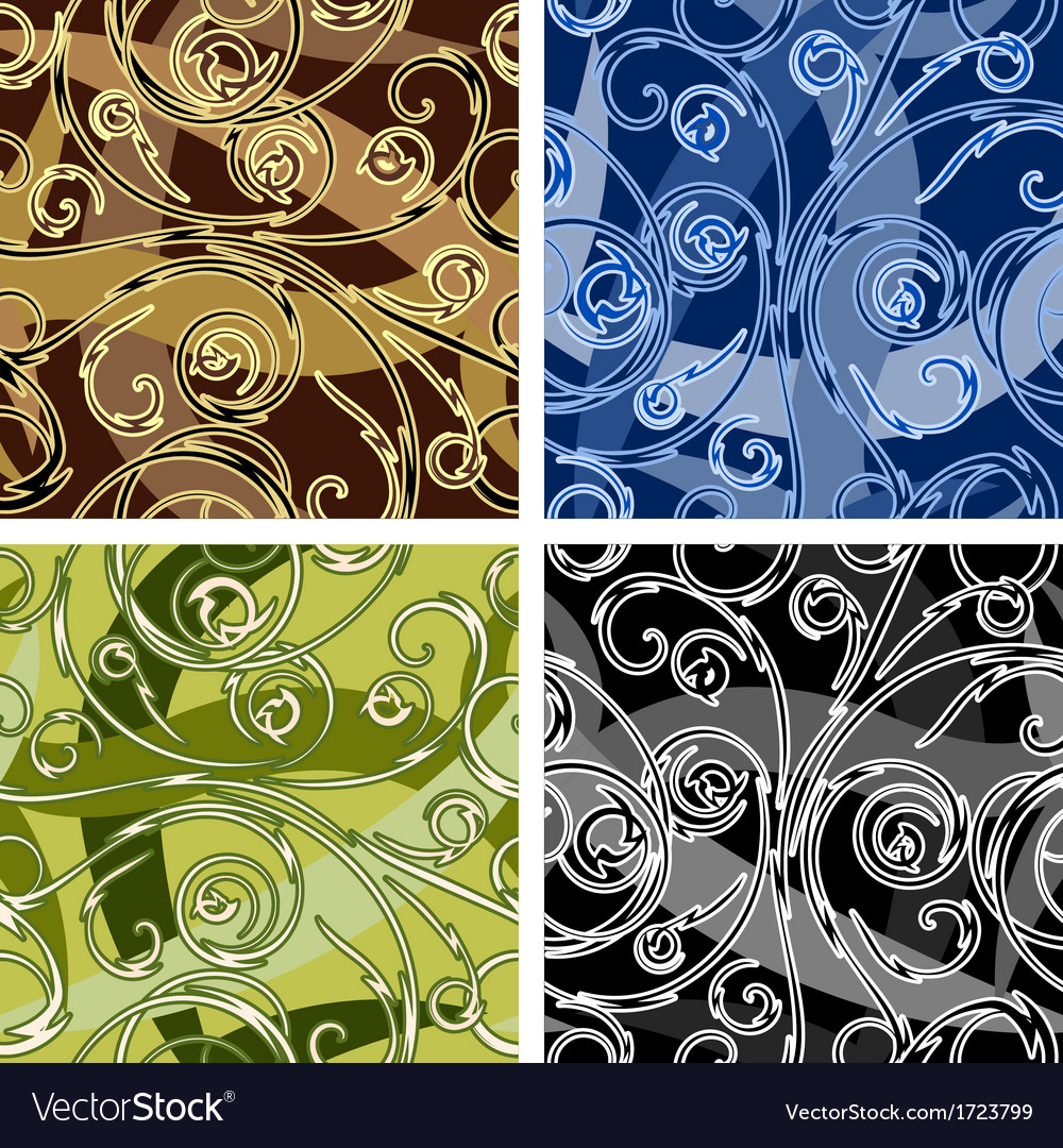 Seamles swirl pattern vector | Price: 1 Credit (USD $1)