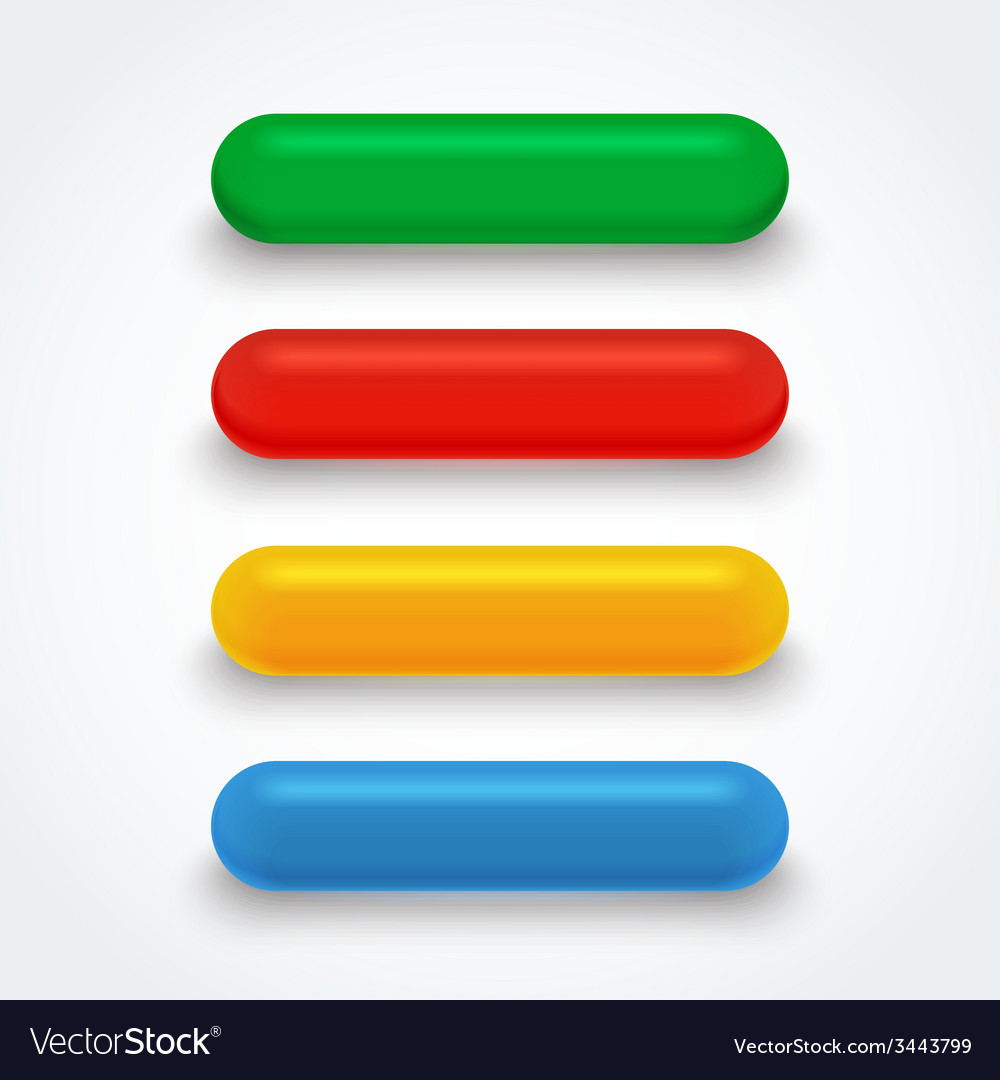 Set of bright isolated colorful glass buttons vector   Price: 1 Credit (USD $1)