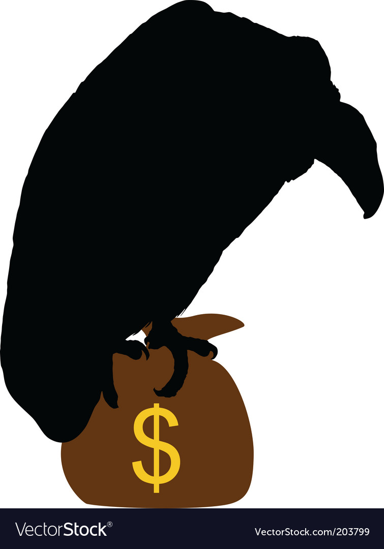 Vulture with moneybag vector | Price: 1 Credit (USD $1)