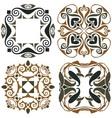 4 art nouveau wallpapers vector