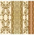 Floral decorative wallpaper vector