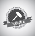 Corkscrew design vector