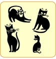 Black cats - set vinyl-ready eps vector