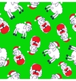 New years sheeps seamless pattern vector