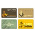 Agro card 001 vector
