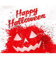 Grunge halloween pumpkin background vector